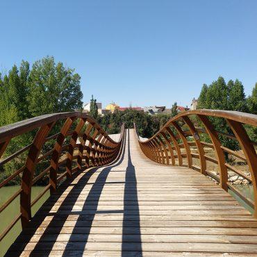Bridge over the Duero river in Ribera del Duero